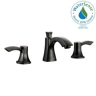 ANZZI Sonata Series 8-inch Widespread 2-handle Mid-arc Bathroom Faucet in Oil Rubbed Bronze