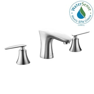 ANZZI Chord Series 8-inch Widespread 2-handle Low-arc Bathroom Faucet in Brushed Nickel