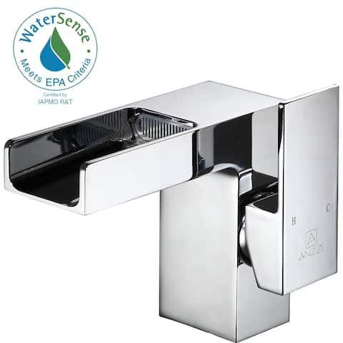 ANZZI Zhona Single Hole Single-handle Low-arc Bathroom Faucet in Polished Chrome