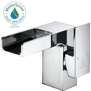ANZZI Zhona Series Single Hole Single-handle Low-arc Bathroom Faucet in Polished Chrome