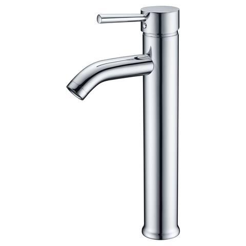 ANZZI Fann Single Hole Single-handle Vessel Bathroom Faucet in Brushed Nickel