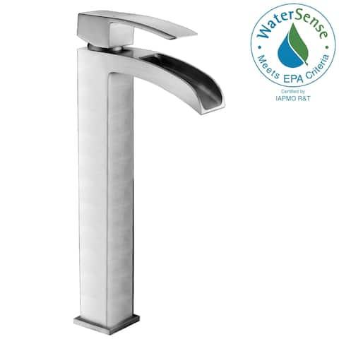 ANZZI Key Single-handle Vessel Bathroom Faucet in Brushed Nickel