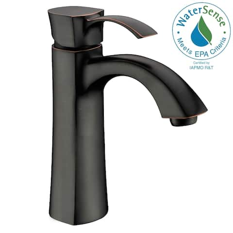 ANZZI Rhythm Single-handle Mid-arc Bathroom Faucet in Oil Rubbed Bronze