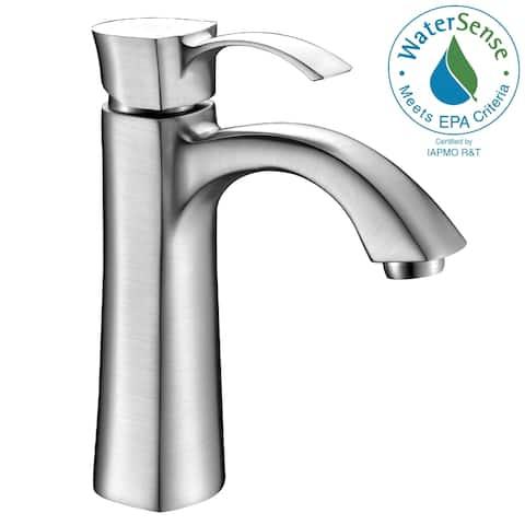 ANZZI Rhythm Single-handle Mid-arc Bathroom Faucet in Brushed Nickel