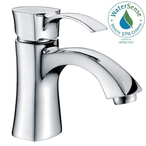 ANZZI Alto Series Single Hole Single-handle Mid-arc Bathroom Faucet in Polished Chrome