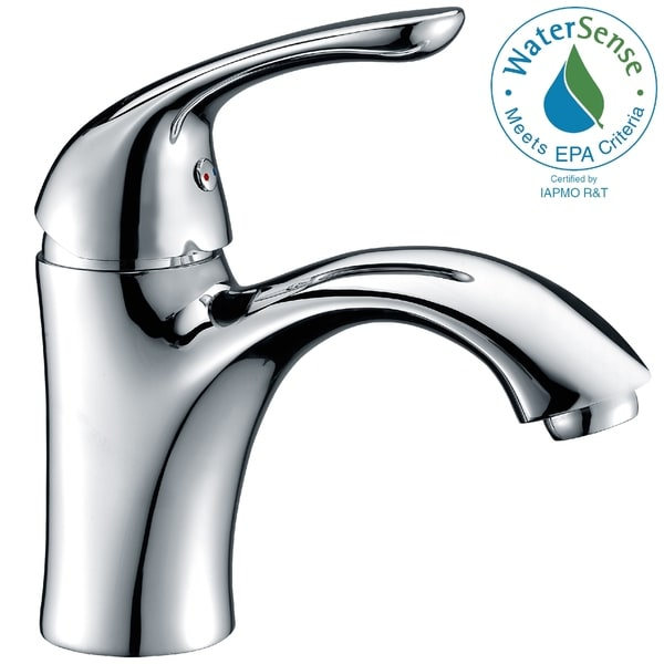 ANZZI Clavier Series Single Hole Single-handle Mid-arc Bathroom Faucet in Polished Chrome. Opens flyout.