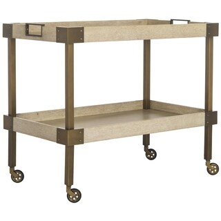 Safavieh Couture High Line Collection Adalia Bleached Walnut Wood Bar Cart