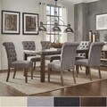 Cassidy Stainless Steel Top Rectangle Dining Table 7-Piece Set by SIGNAL HILLS