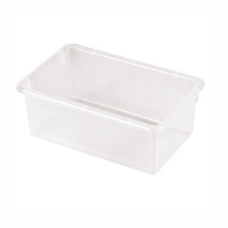 Offex Clear Plastic Stack And Store Tub with No Lid