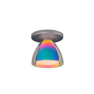 Bruck Lighting Rainbow 2 1-LED Matte Chrome Ceiling Mount with Sunset Glass Shade