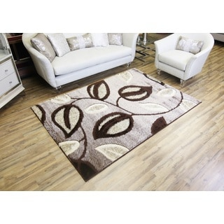 Bekmez Rug Gloria Brown Polypropylene Machine-made Shag Area Rug (3' x 8')