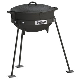 Bayou Classic 5-gallon Cast Iron Standing Jambalaya Pot Set