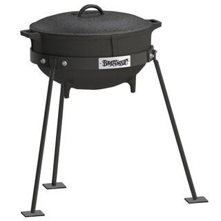 Bayou Classic 5-gallon Cast Iron Standing Jambalaya Pot Set
