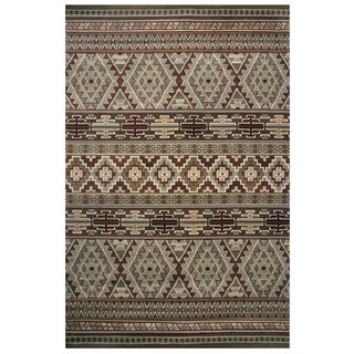 Velvet Collection Multicolor Aztec Print Rug, 8 ft. x 11 ft.