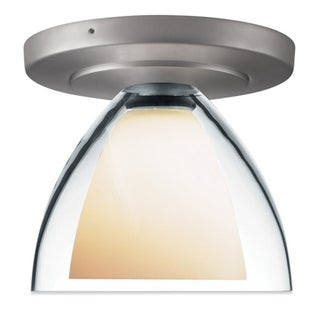 Bruck Lighting Rainbow 2 1-LED Matte Chrome Ceiling Mount with Clear Glass Shade