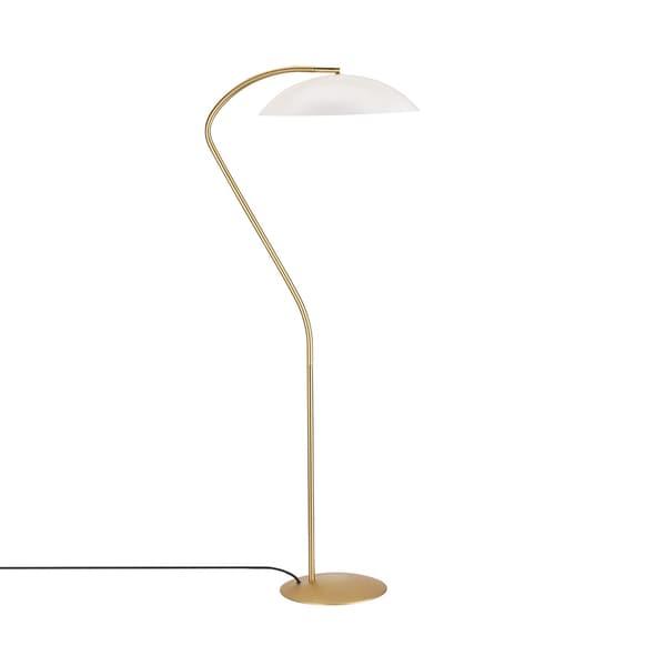 Hans Andersen Home Black/White Steel and Brass Cobra Floor Lamp