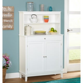 simple living farmhouse buffet with hutch