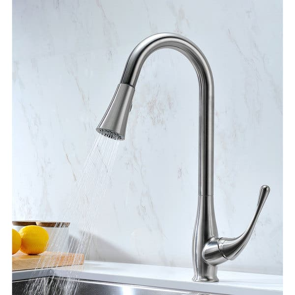 Anzzi Moore Undermount Stainless Steel 32 Inch Double Bowl Kitchen Sink And Faucet Set With Singer Faucet In Brushed Nickel Overstock 13776842