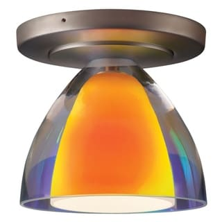 Bruck Lighting Rainbow 2 Matte Chrome Sunrise Outer/Frosted White Inner Glass Shade 1-light Low Voltage Ceiling Mount