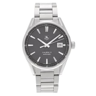 Tag Heuer Men's 'Carrera' WAR211C.BA0782 Stainless Steel Anthracite Dial Link Bracelet Watch