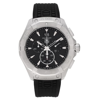 Tag Heuer Men's 'Aquaracer' CAY1110.FT6041 Stainless Steel Chronograph Dial Rubber Strap Watch