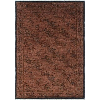 Noori Rug Overdyed Abid Brown/Green Rug - 4'0 x 5'8