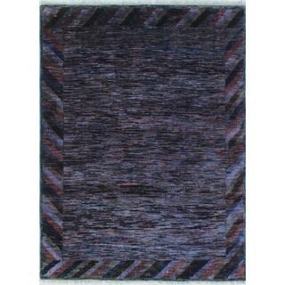 Noori Rug Overdyed Aasim Purple/Rust Rug - 3'5 x 4'9