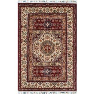 Super Kazak Qaiyoum Red/Ivory Rug (4' x 5'11)