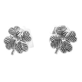 Handcrafted Sterling Silver 'Little Clovers' Earrings (Thailand)