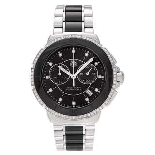 Tag Heuer Women's 'Formula 1' CAH1212.BA0862 Stainless Steel 2/5 CT TDW Diamond Chronograph Link Bracelet Watch