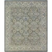 Noori Rug Yousafi Fine Chobi Halim Charcoal/Ivory Rug - 8'0 x 9'11