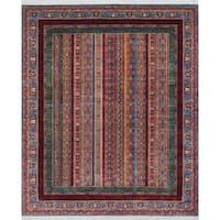 Noori Rug Khurgeen Baaqi Blue/Red Rug - 8'0 x 9'8