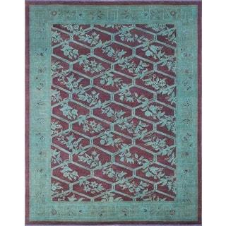 Noori Rug Overdyed Jabbar Blue/Rust Rug - 8'11 x 11'11
