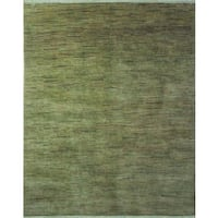 Wahhab Overdyed Green/Black Wool Rug