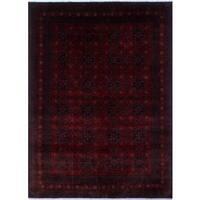 Red/Black Wool Khal Mohammadi Uljan Rug (8'3 x 11'3)