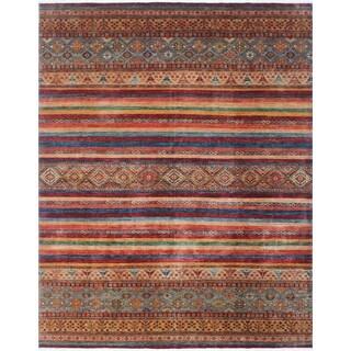 Noori Rug Khurgeen Afiq Red/Blue Rug - 9'1 x 11'9