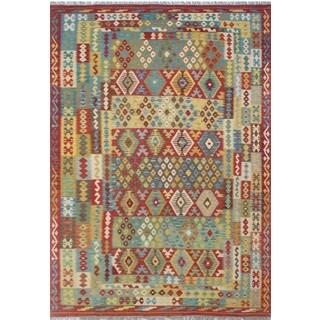 Rust/Ivory Wool Kilim Ahnaf Rug (8' x 11'3)