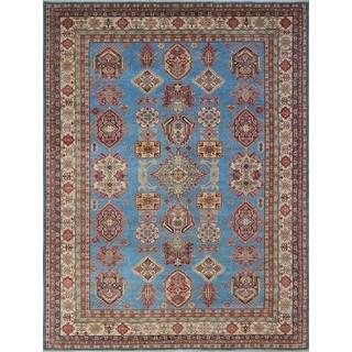 Quddus Blue/Ivory Wool Kazak Rug (8'10 x 11'7) - 8'10 x 11'7