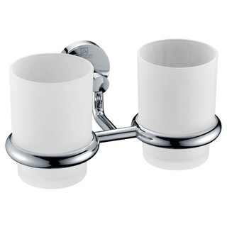 ANZZI Caster Series 7.36 in. Double Toothbrush Holder in Polished Chrome