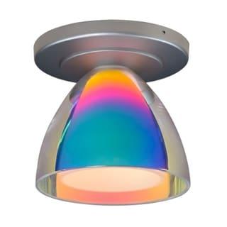 Bruck Lighting Rainbow 2 Matte Chrome Sunrise Glass 1-light Ceiling Mount