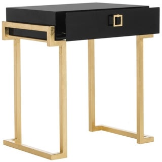 Safavieh Couture High Line Collection Abele Black Lacquer Side Table