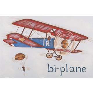 Marmont Hill - 'Biplane' by Reesa Qualia Painting Print on Wrapped Canvas