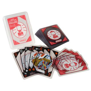 Coleman Clear PVC Waterproof Playing Cards With Plastic Carrying Case (54-card Deck)
