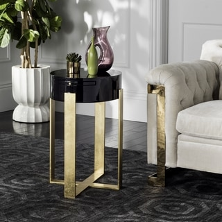 Safavieh Couture High Line Collection Yaryna Black Lacquer Side Table
