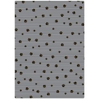 Drymate Grey Stripe Black Paw Cat Litter Mat