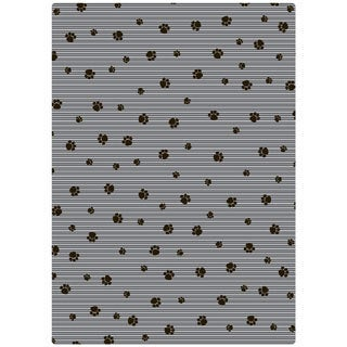 Drymate Grey Stripe Black Paw Cat Litter Mat