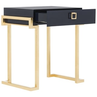 Safavieh Couture High Line Collection Abele Navy Lacquer Side Table