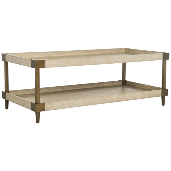 Safavieh Couture High Line Collection Dinora Bleached Walnut Wood Coffee  Table