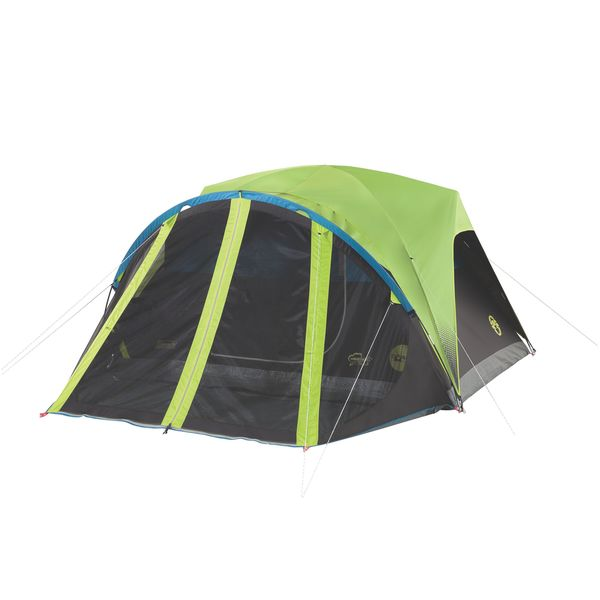Coleman Carlsbad Green Nylon 4-Person Dome Tent with Screen Room