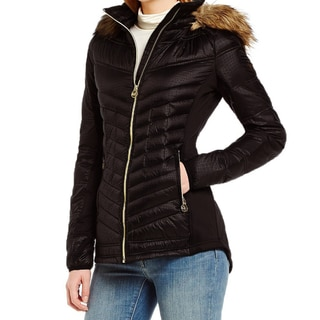 Michael Kors Women's Black Faux Fur Hooded Packable